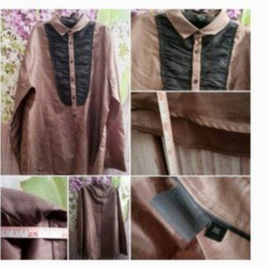 ASOS Baroque Button Down Shirt Blouse Top 2XL